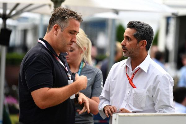 Chris Styring (AUS) and  Salman bin Isa Al Khalifa (BRN) Chief Executive of Bahrain International Circuit at Formula One World Championship, Rd1, Australian Grand Prix, Qualifying, Albert Park, Melbourne, Australia, Saturday 25 March 2017.