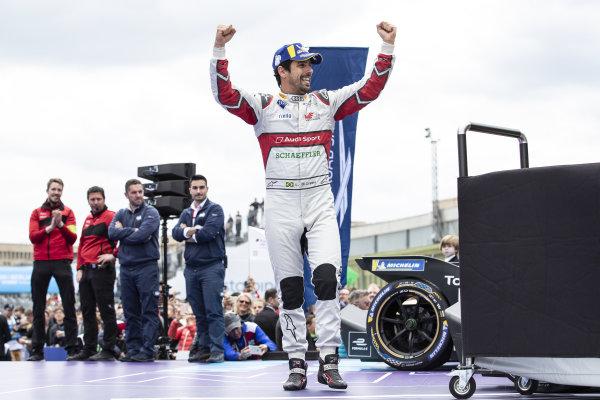 Lucas Di Grassi (BRA), Audi Sport ABT Schaeffler, 1st position, on the podium