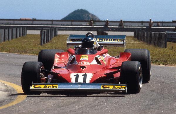 1978 Brazilian Grand Prix.Jacarepagua, Rio de Janeiro, Brazil.27-29 January 1978.Carlos Reutemann (Ferrari 312T2) 1st position.Ref-78 BRA 01.World Copyright - LAT Photographic