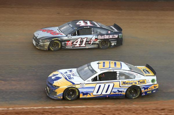 #00: Quin Houff, StarCom Racing, Chevrolet Camaro Mane 'n Tail, #41: Cole Custer, Stewart-Haas Racing, Ford Mustang HaasTooling.com