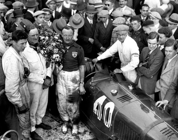 1931 French Grand Prix.Montlhery, France. 19-21 June 1931.Tim Birkin and George Eyston (Maserati 26M), 4th position.A Race Through Time exhibition number 95. Ref-Autocar B6568.World Copyright - LAT Photographic