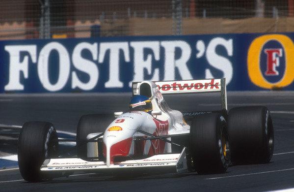 1991 Australian Grand Prix.Adelaide, Australia.1-3 November 1991.Michele Alboreto (Footwork FA12 Ford). He spun but was classified in 13th position.Ref-91 AUS 29.World Copyright - LAT Photographic