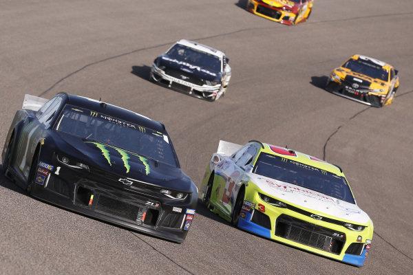 #1: Kurt Busch, Chip Ganassi Racing, Chevrolet Camaro Monster Energy and #3: Austin Dillon, Richard Childress Racing, Chevrolet Camaro Symbicort