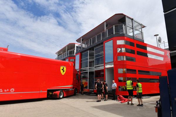 Ferrari truck and motorhome