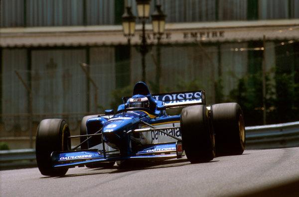 Monte Carlo, Monaco.16-19 May 1996.Olivier Panis (Ligier JS43 Mugen-Honda) 1st position at Casino.Ref-96 MON 13.World Copyright - LAT Photographic