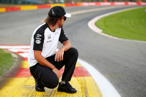 Spa-Francorchamps, Spa, Belgium. Thursday 20 August 2015. Fernando Alonso, McLaren. World Copyright: Steven Tee/LAT Photographic ref: Digital Image _L4R9316