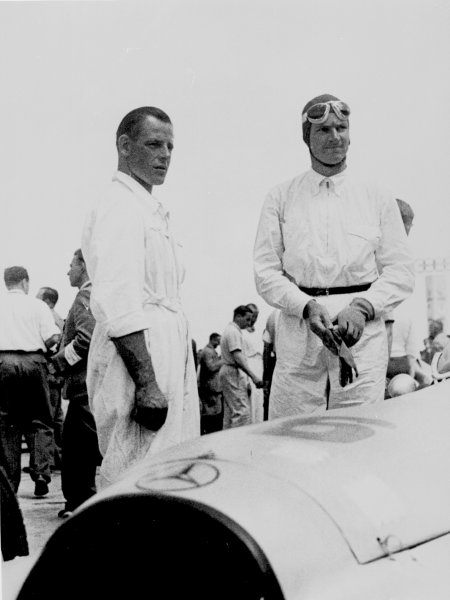 Nurburgring, Germany.24 July 1938.Dick Seaman (Mercedes-Benz W154), 1st position, before the start.Published-Autocar 29/7/1938 p208. REf-S85/57.World Copyright - LAT Photographic