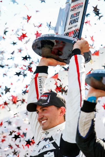 31 July - 2 August, 2015, Lexington, Ohio USA Graham Rahal celebrates his win. ?2015, Sam Cobb LAT Photo USA