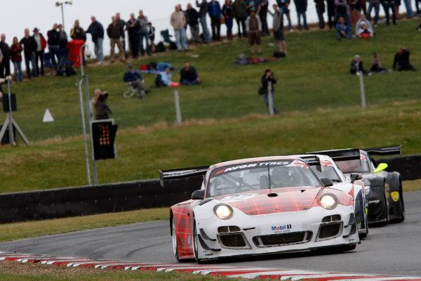 2013 British GT Championship, Snetterton, Norfolk. 15th - 16th June 2013. Gregor Fisken / Stephen Jelley Trackspeed Porsche 997 GT3R. World Copyright: Ebrey/LAT Photographic.