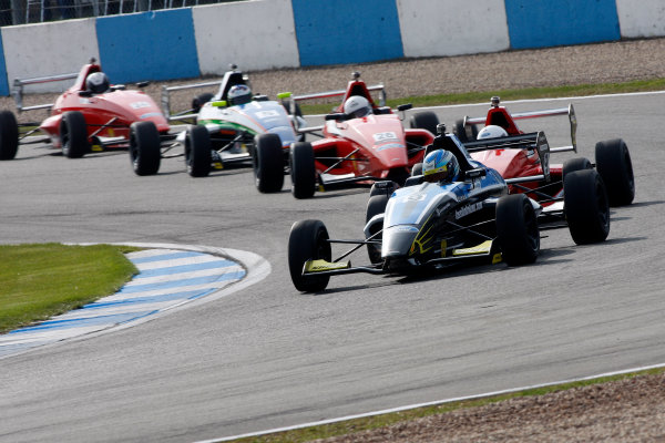 2013 MSA Formula Ford Championship of Great Britain. Donington Park, Leicestershire. 20th - 21st April 2013. Lassi Halminen (FIN) Falcon Motorsport Formula Ford 200. World Copyright: Ebrey / LAT Photographic.
