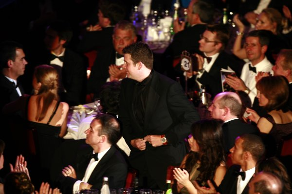 2006 Autosport AwardsGrosvenor House Hotel, London. 3rd December 2006.National Rally Driver Mark Higgins heads for the stage to collect his award.World Copyright: Malcolm Griffiths/LAT Photographicref: Digital Image _MG_2212