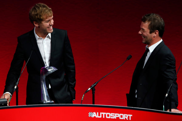 Sunday  Sebastien Vettel, winner of the International Racing Driver award with Sebatsien Loeb. World Copyright:Glenn Dunbar/  ref: Digital Image _89P0928