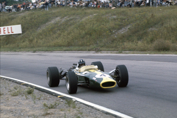 Mosport Park, Ontario, Canada. 25 - 27 August 1967.Graham Hill (Lotus 49-Ford), 4th position, action. World Copyright: LAT Photographic.Ref:  67CAN06