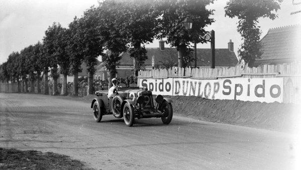 Le Mans, France. 16th June 1929.Kim Peacock / Sammy Newsome (Lea Francis Hyper Sport TT), 8th position, action.ref: 744/7.World Copyright - LAT Photographic