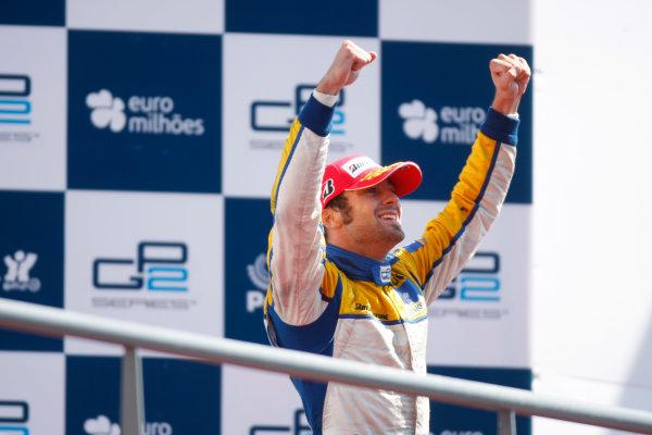 Sunday Race.Luca Filippi (ITA, Super Nova Racing) celebrates his victory on the podium. World Copyright: Alastair Staley / GP2 Series Media Service.Ref: _O9T3859 jpg