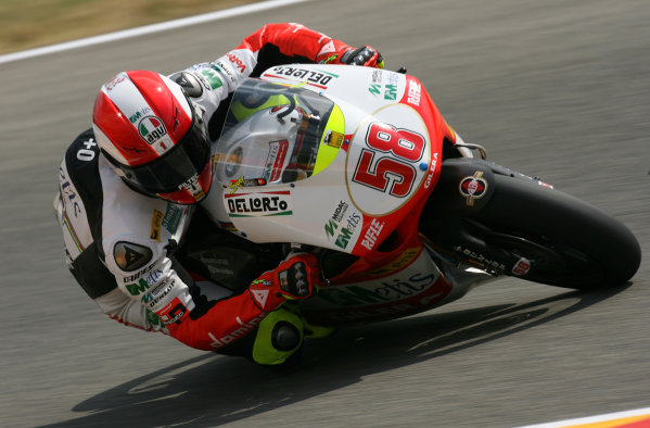 Gran Premio D'Itali Alice.Mugello, Italy. 29th May 2009.Marco Simoncelli Metis Gilera 250cc.World Copyright: Martin Heath/LAT Photographicref: Digital Image BPI_Moto 8hwm