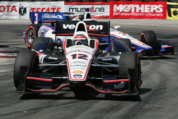 11-13 April, 2014, Long Beach, California USA Will Power and Helio Castroneves ©2014, Leland Hill LAT Photo USA