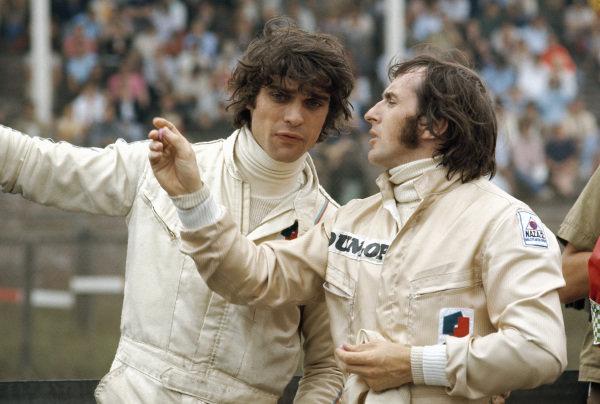 Tyrrell teammates Francois Cevert and Jackie Stewart.