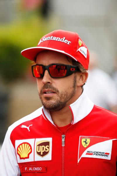 Spa-Francorchamps, Spa, Belgium. Friday 22 August 2014. Fernando Alonso, Ferrari. World Copyright: Charles Coates/LAT Photographic. ref: Digital Image _J5R9207