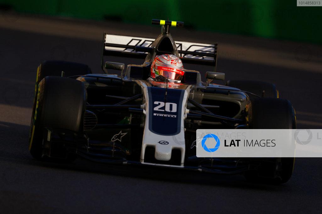 Baku City Circuit, Baku, Azerbaijan. Friday 23 June 2017. Kevin Magnussen, Haas VF-17 Ferrari.  World Copyright: Steven Tee/LAT Images ref: Digital Image _O3I1751