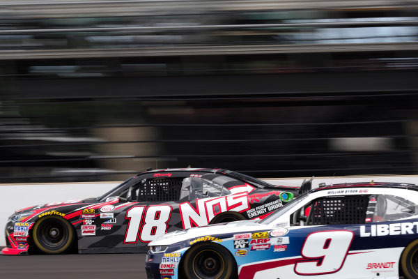 NASCAR XFINITY Series Lilly Diabetes 250 Indianapolis Motor Speedway, Indianapolis, IN USA Friday 21 July 2017 Kyle Busch, NOS Energy Drink Rowdy Toyota Camry William Byron, Liberty University Chevrolet Camaro World Copyright: Michael L. Levitt LAT Images