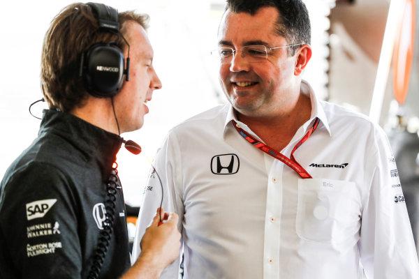 Hungaroring, Budapest, Hungary.  Friday 28 July 2017. Eric Boullier, Racing Director, McLaren. World Copyright: Steven Tee/LAT Images  ref: Digital Image _O3I5526