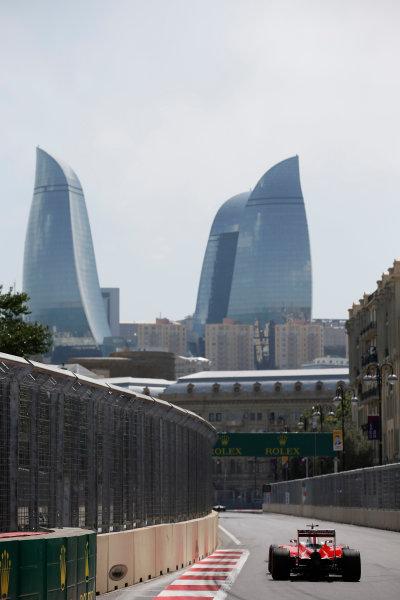 Baku City Circuit, Baku, Azerbaijan. Saturday 18 June 2016. Sebastian Vettel, Ferrari SF16-H. World Copyright: Glenn Dunbar/LAT Photographic ref: Digital Image _W2Q8241