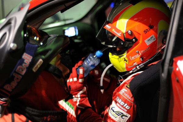 Bahrain, 27th-29th September 2012,Andrea Bertolini/Olivier Beretta AF Corse Ferrari F458 ItaliaWorld copyright: Ebrey/LAT Photographic