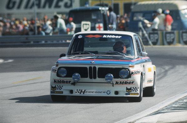 Le Mans, France. 14-15 June 1975 Daniel Brillat/Giancarlo Gagliardi/Michel Degoumois (BMW 2002 TI), 27th position, action. World Copyright: LAT PhotographicRef: 75LM17.