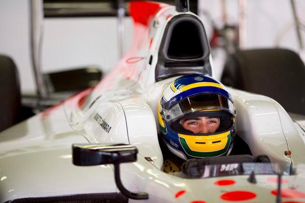 Circuit de Barcelona Catalunya, Barcelona, Spain. Monday 13 March 2017. Sergio Sette Camara (BRA, MP Motorsport).  Photo: Alastair Staley/FIA Formula 2 ref: Digital Image 580A9839