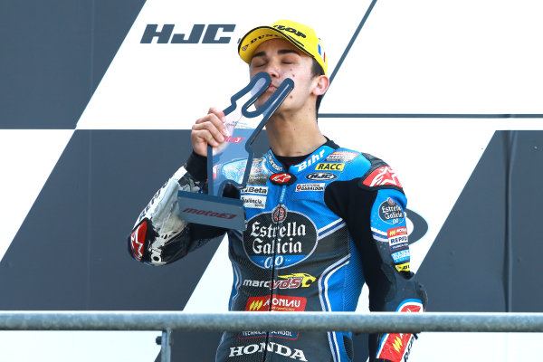 2017 Moto3 Championship - Round 5 Le Mans, France Sunday 21 May 2017 Podium: second place Aron Canet, Estrella Galicia 0,0 World Copyright: Gold & Goose Photography/LAT Images ref: Digital Image 671647