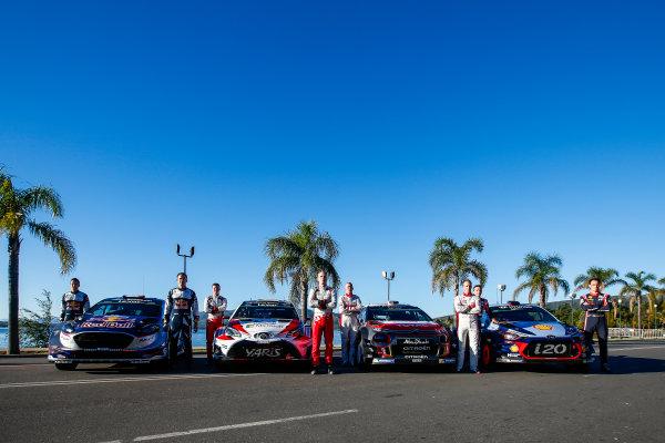 2017 FIA World Rally Championship, Round 05, Rally Argentina, April 27-30, 2017, Rally winners 2017, Sebastien Ogier, Jari-Matti Latvala, Kris Meeke, Thierry Neuville Worldwide Copyright: McKlein/LAT