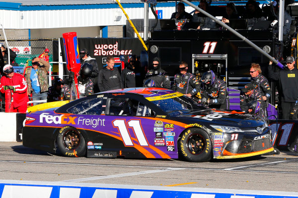 23-25 September, 2016, Loudon, New Hampshire USA Denny Hamlin, FedEx Freight Toyota Camry pit stop ?2016, Russell LaBounty LAT Photo USA