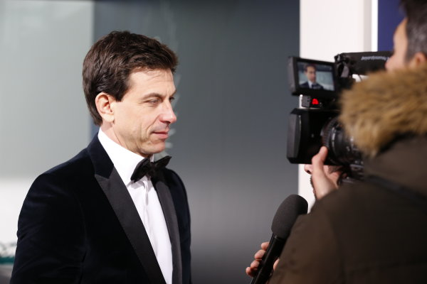 2016 FIA Prize Giving Vienna, Austria Friday 2nd December 2016 Toto Wolff speaks to a TV camera. Photo: Copyright Free FOR EDITORIAL USE ONLY. Mandatory Credit: FIA ref: 30555806784_7b5b675c79_o