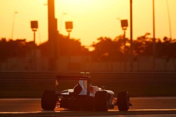 2014 GP3 Series Test 3.   Yas Marina Circuit, Abu Dhabi, United Arab Emirates. Saturday 29 November 2014. Andrea Pizzitola (FRA, Arden International)  Photo: Sam Bloxham/GP3 Series Media Service. ref: Digital Image _14P2999
