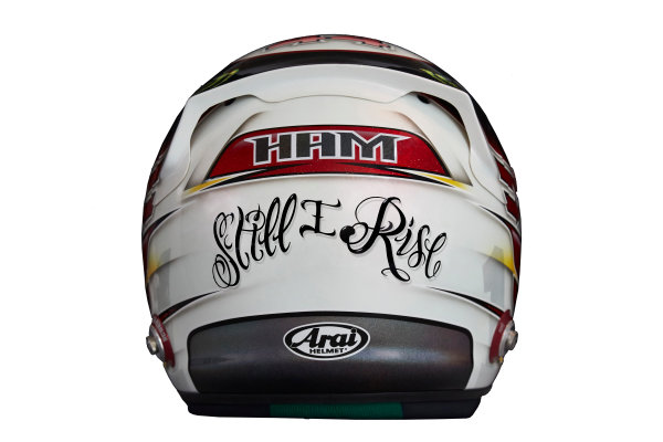 Circuit de Catalunya, Barcelona, Spain. Wednesday 25 February 2015. Helmet of Lewis Hamilton, Mercedes AMG.  World Copyright: Mercedes AMG F1 (Copyright Free FOR EDITORIAL USE ONLY) ref: Digital Image 2015_MERCEDES_HELMET_02