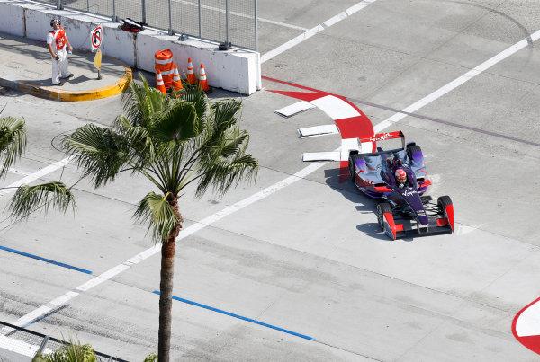 2014/2015 FIA Formula E Championship. Long Beach ePrix, Long Beach, California, United States of America. Friday 3 April 2015 Jaime Alguersuari (SPA)/Virging Racing - Spark-Renault SRT_01E  Photo: Jed Leicester/LAT/Formula E ref: Digital Image _JL20237
