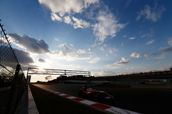Circuit de Catalunya, Barcelona, Spain Thursday 25 February 2016. Kimi Raikkonen, Ferrari SF16-H. World Copyright: Sam Bloxham/LAT Photographic ref: Digital Image _SBL8648