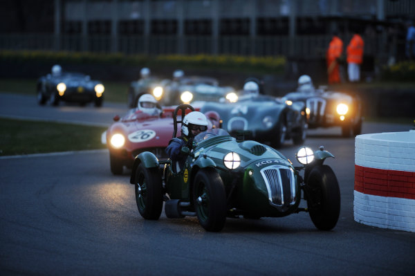 2016 74th Members Meeting Goodwood Estate, West Sussex,England 19th - 20th March 2016 Race 12 Peter Collins Trophy Martin Hunt Frazer Nash World Copyright : Jeff Bloxham/LAT Photographic Ref : Digital Image