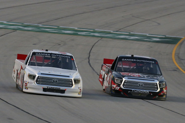 #15: Dylan Lupton, DGR-Crosley, Toyota Tundra Crosley and #30: Brennan Poole, On Point Motorsports, Toyota Tundra