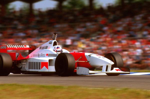 Hockenheim, German.26-28 July 1996.David Coulthard (McLaren MP4/11B Mercedes) 5th position.Ref-96 GER 20.World Copyright - LAT Photographic