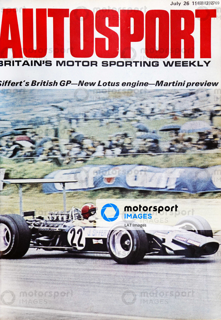 Cover of Autosport magazine, 26th July 1968