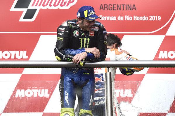 Podium: second place Valentino Rossi, Yamaha Factory Racing.