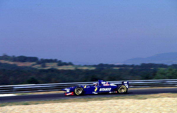 1995 Hungarian Grand Prix.Hungaroring, Budapest, Hungary.11-13 August 1995.Olivier Panis (Ligier JS41 Mugen Honda) 6th position.World Copyright - LAT Photographic