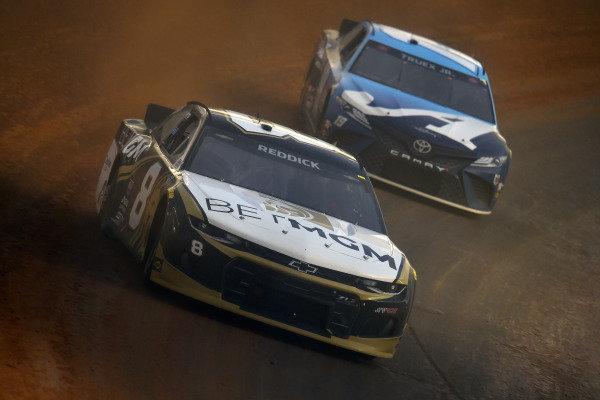 #8: Tyler Reddick, Richard Childress Racing, Chevrolet Camaro NASCAR Trucks at Knoxville and #19: Martin Truex Jr., Joe Gibbs Racing, Toyota Camry Auto-Owners Insurance