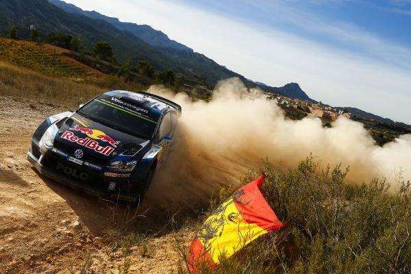 Jari-Matti Latvala (FIN) / Miikka Anttila (FIN), Volkswagen Polo R WRC at FIA World Rally Championship, Rd12, RAAC Rally de Espana, Day One, Costa Daurada, Catalunya, Spain, 23 October 2015.
