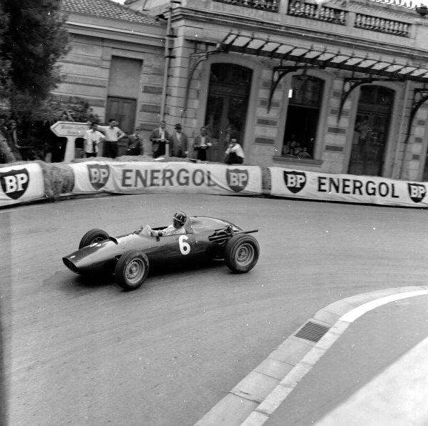 1960 Monaco Grand Prix.Monte Carlo, Monaco.26-29 May 1960.Graham Hill (BRM P48).Ref-6499.World Copyright - LAT Photographic