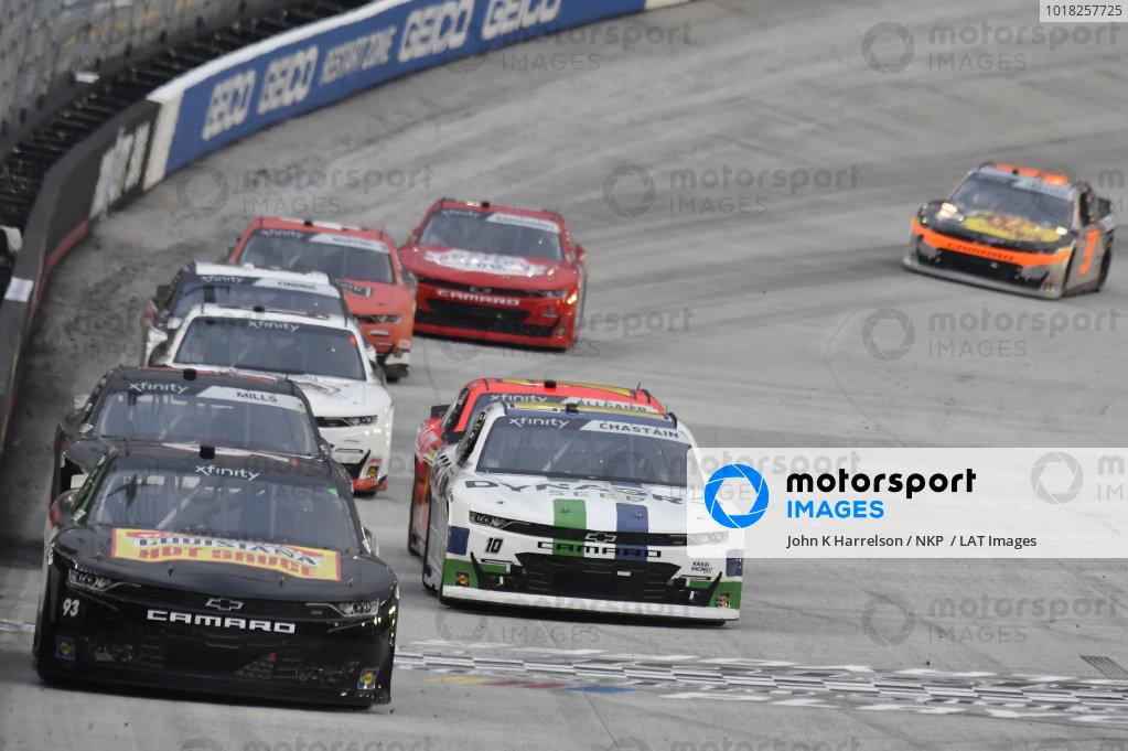 #93: Myatt Snider, RSS Racing, Chevrolet Camaro Superior Essex, #10: Ross Chastain, Kaulig Racing, Chevrolet Camaro Dyna-Gro Seed
