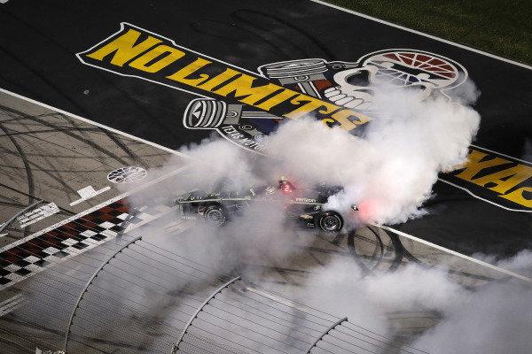 Josef Newgarden, Team Penske Chevrolet, burnout
