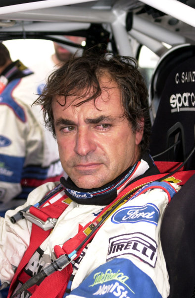 2001 World Rally Championship.Neste Rally Finland. Jyvaskyla, August 24-26, 2001.Carlos Sainz during shakedown.Photo: Ralph Hardwick/LAT